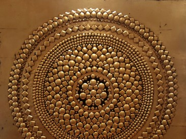 The Circle – Byzantine (metal, rivets, oil on masonite, 101x101cm)