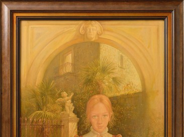 Devojčica iz Perasta (ulje na platnu, 70x50cm)