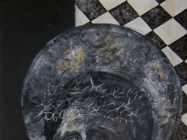 Lament nad uzvišenim I (kombinovana tehnika na papiru, 70x50cm) 2016. god.