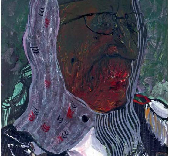11 Mrki vuk, ulje na platnu, 70x50cm, 2004