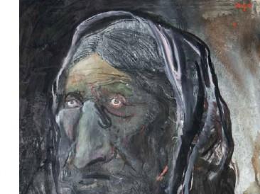 Čo'ek žena (ulje na platnu, 208x104cm) 2017.god.