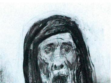 Tužbalica (crtež, ugljen na papiru, 41x29cm) 2012.god.