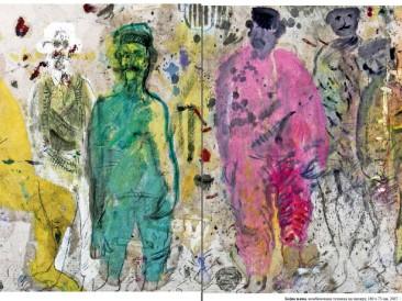 Bojna njiva (komb.tehnika na papiru, 180x75cm) 2007.god.