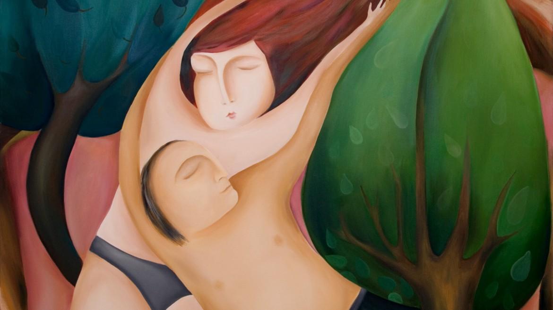 01 Ljubavni san ulje na platnu 100x120cm 2014god