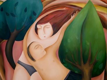 Ljubavni san (ulje na platnu, 100x120cm) 2014.god.