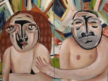 Sv.Pavle i Lola – diptih (ulje na platnu, 45x70cm ) 2017.god.