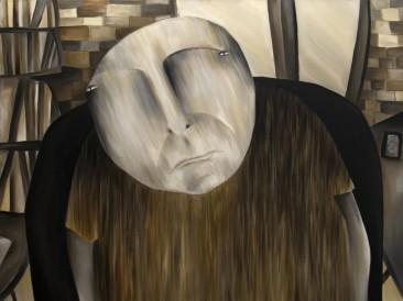 Onaj što je oslobodio ženu u ženi (ulje na platnu, 100x120cm) 2013.god.