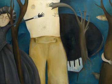 Srećna tišina (ulje na platnu, 70X100cm) 2012.god.