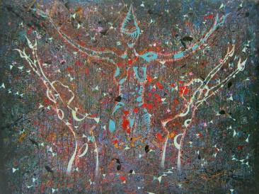 Oslobođenje (komb.tehn. na platnu, 200x160cm) 2012.god.