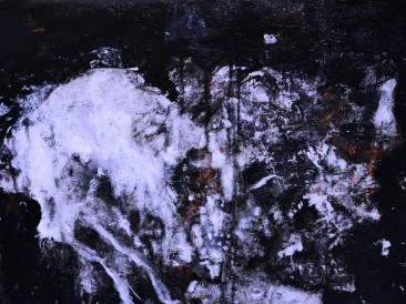 Poljubac smrti (komb.tehn. na platnu, 50x40cm) 2017.god.