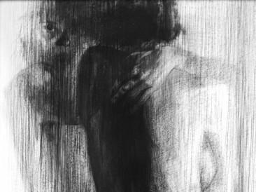 Reflection (ugljen na papiru, 100x70cm)