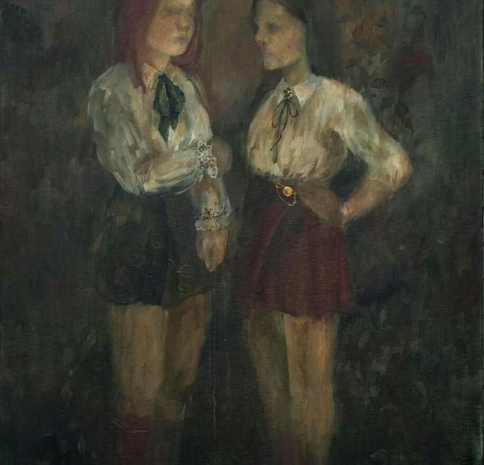 ,,Samoća protiv samoće,, - 100 x 140, 2017.