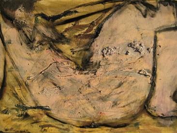 Akt 2 (ulje na platnu, 20x30cm)