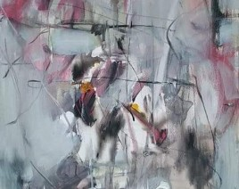APSTRAKTNA KOMPOZICIJA-Akril na platnu- Acrylic on canvas 80x0 cm