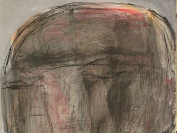 Glava 1 (akril na kartonu, 100x70cm)