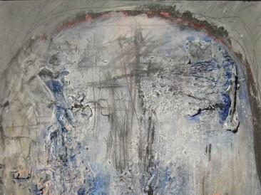 Glava 2 (akril na platnu, 20x30cm)