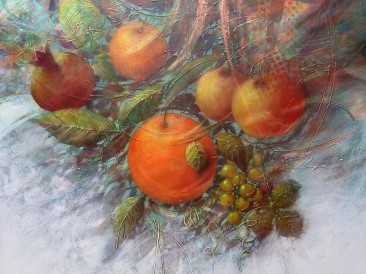 Plodovi Edena (akrilik na platnu, 100x100cm) 2018.god.