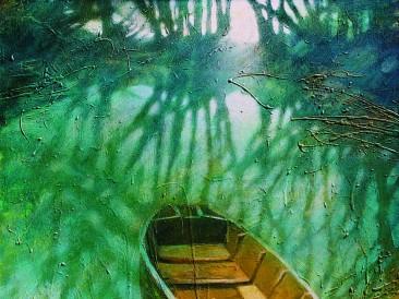 Rečna laguna (akrilik na platnu, 100x100cm) 2003.god.