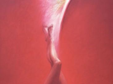 Veliko crveno (akrilik na platnu, 150x120cm) 2002.god.
