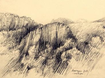 "Iz ciklusa ""Zapisi sa Meteora"" no.63 (olovka, 17,5×25,5cm) 2013.god."