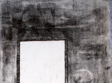 Prozor (olovka na krilitu, 55x30cm)