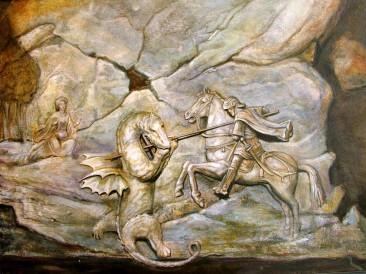 Sveti Đorđe (ulje na kaširanom platnu, 50x40cm)