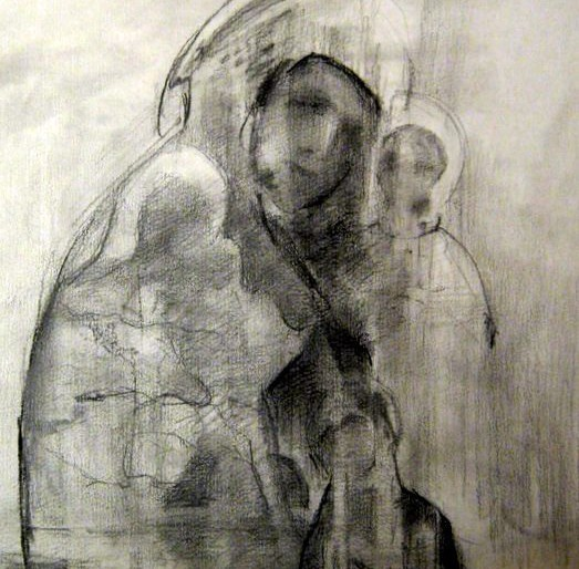 10. Sveprisutnosti, ugljen na papiru, 45x25cm