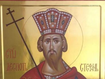 Ikona Sveti despot Stefan Lazarević (Vaznesenjska crkva, Beograd)