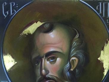 Apostol Pavle (Akril na platnu sa pozlatom, 70x100cm) 2017.god.