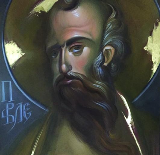 APOSTOL PAVLE-AKRIL NA PLATNU. POZLATA- 70x100- 2017