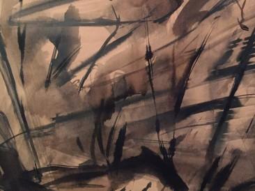 Krajolik III (crtež,48x50cm)