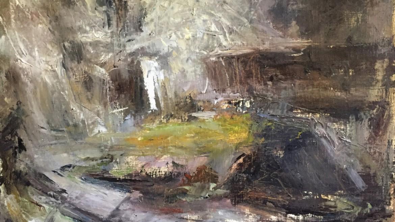 Miodrag Milutinovic, Prostor i bivstvo, ulje na platnu, 60x70, 2019.