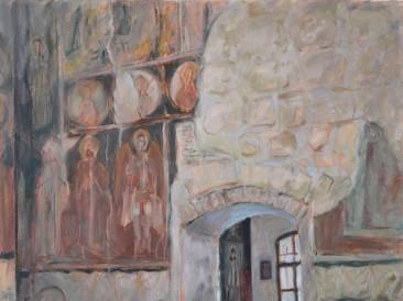 Manastir Petkovica (80×60 cm, ulje na platnu, 2019. god.)