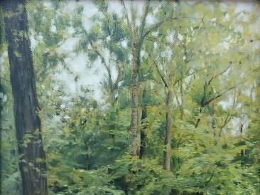 Kamenički park, Sfinga (40.5×30.5 cm, ulje na platnu, 2019. god.)