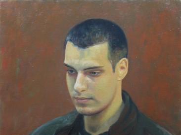 042 Aleksa Pivnički – portret, ulje na platnu, 60x50cm, 2018