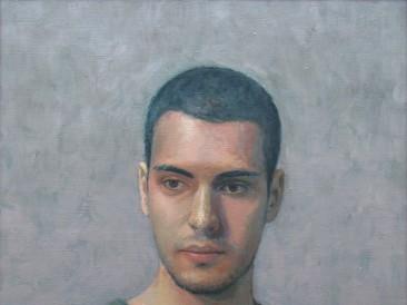 046 Aleksa Pivnički – portret, ulje na platnu,  60x47cm, 2019