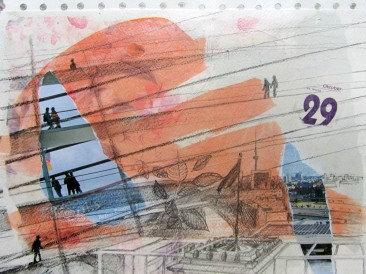 Dani svesnosti – Dvadesetdeveti oktobar (24x30cm, akril-papir) 2008.